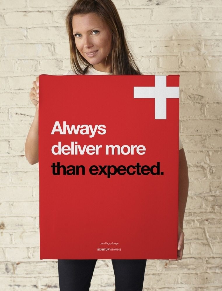 Always Deliver More Than Expected Poster