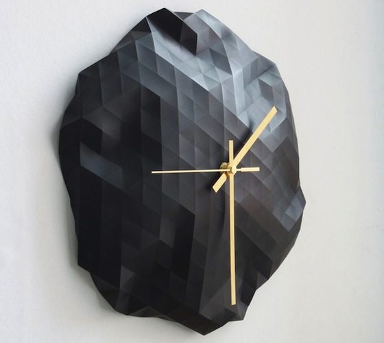 Faceted+Wall+Clock