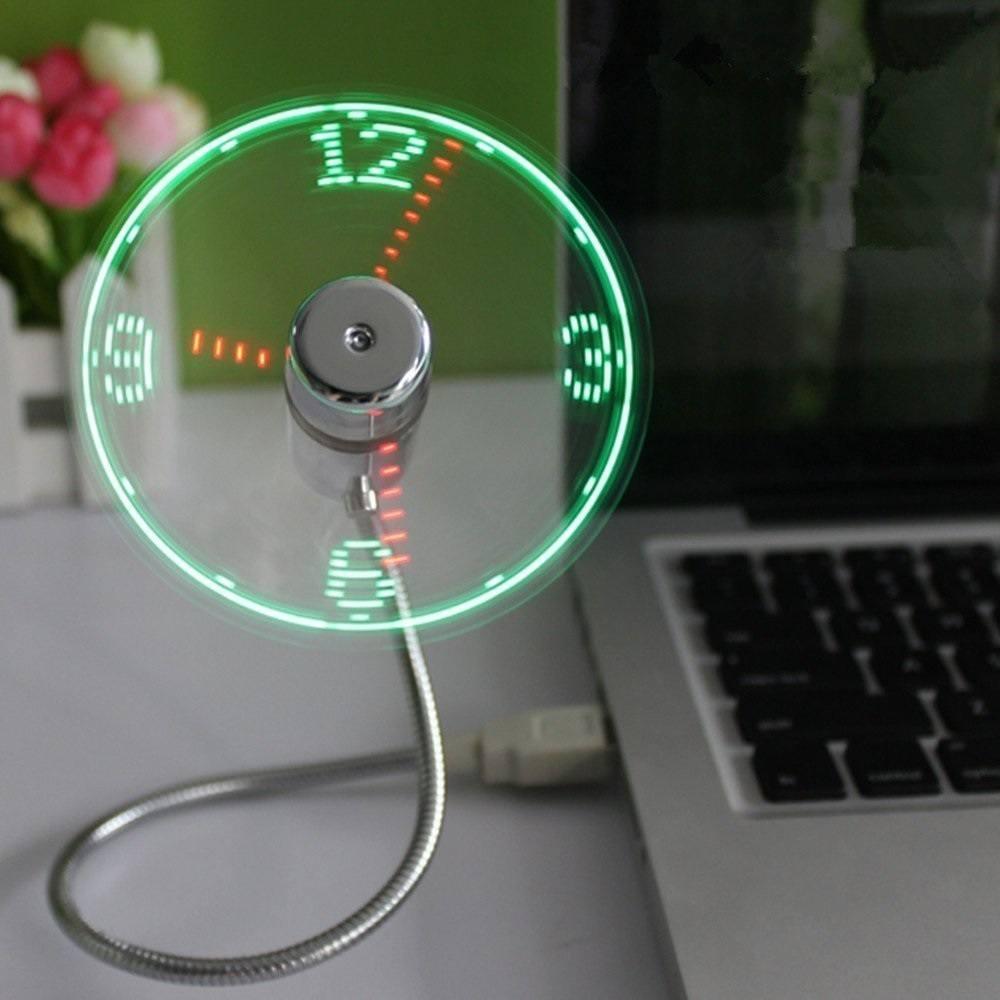 Led Usb Fan Clock 187 Gadget Flow