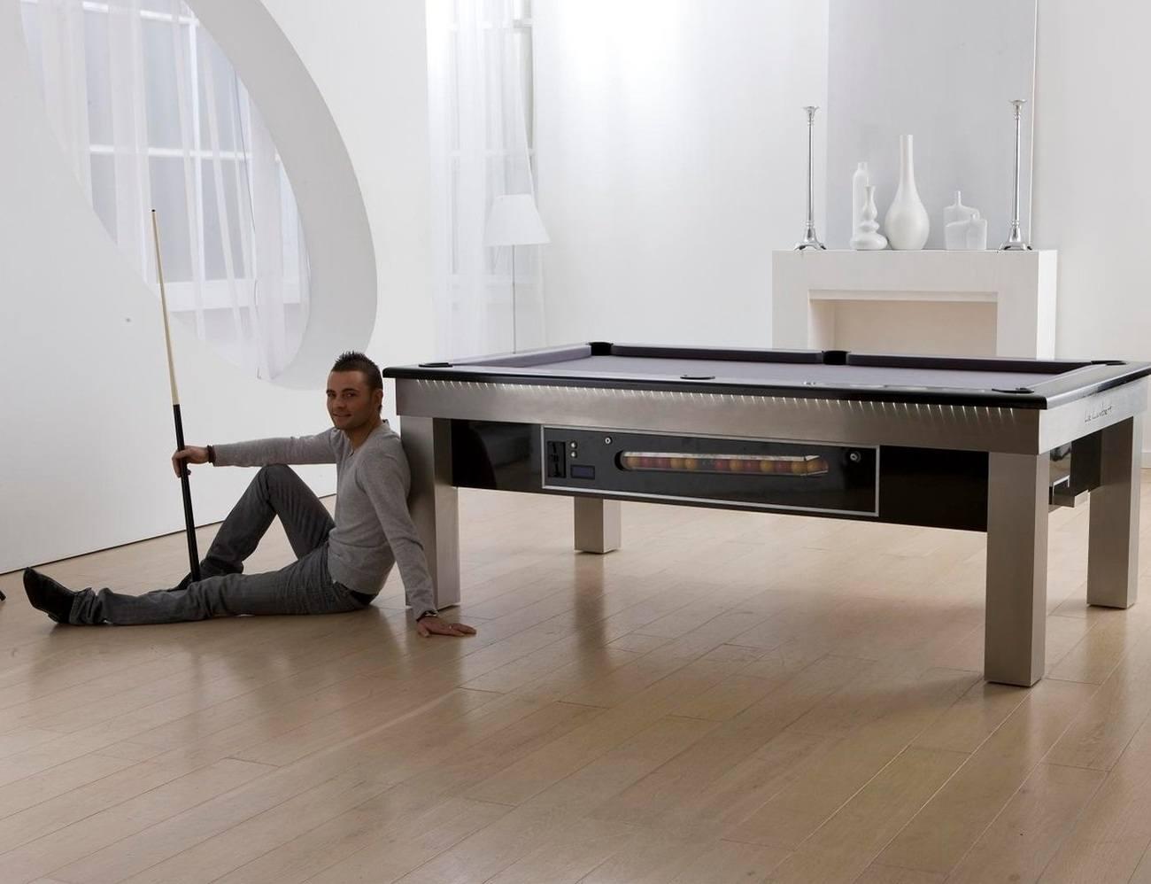 Lambert LED Slate Bed Pool Dining Table