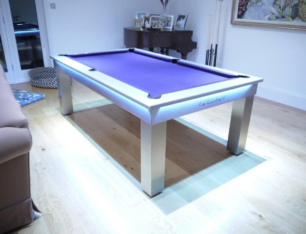... Lambert LED Slate Bed Pool Dining Table