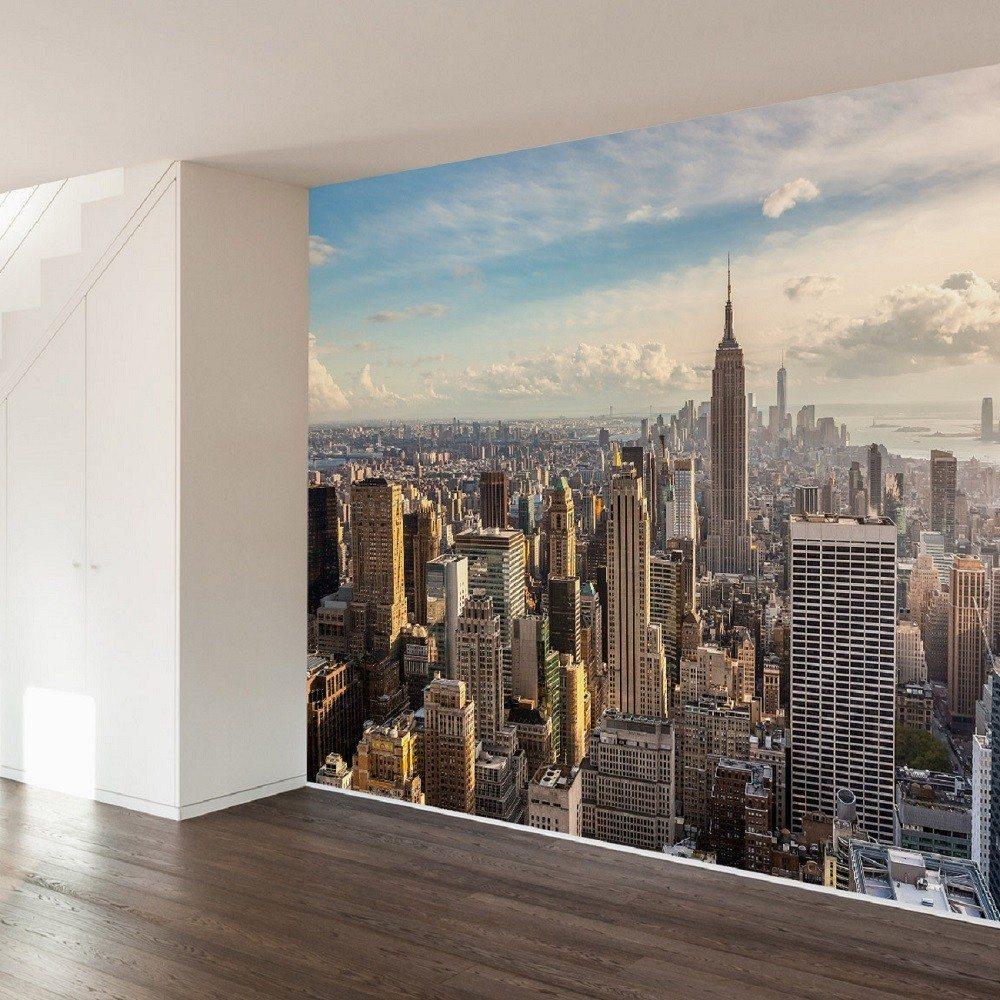 New York Sunrise Wall Mural » Gadget Flow