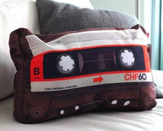 Retro Cassette Pillow
