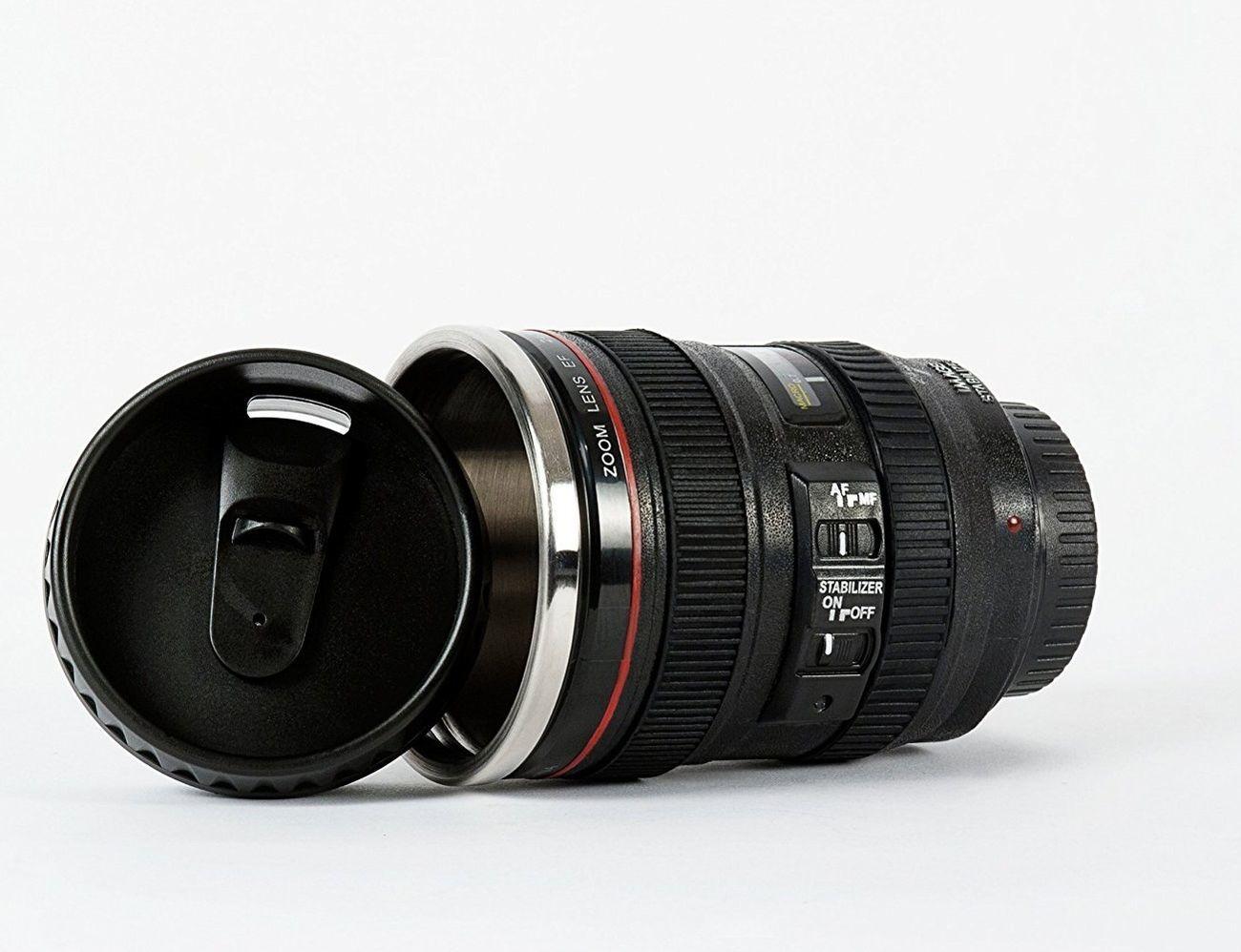 Lens Flask and Mug