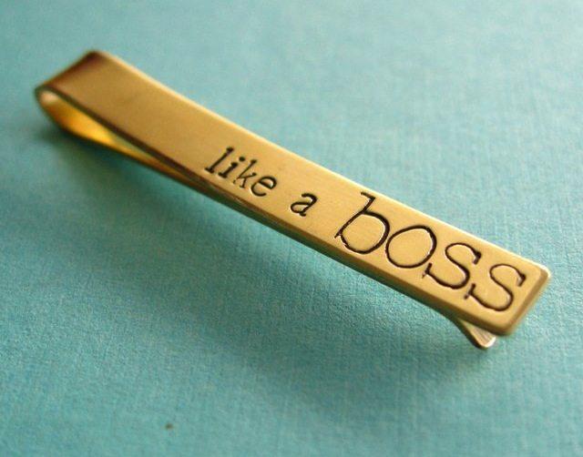 Like a Boss Tie Clip