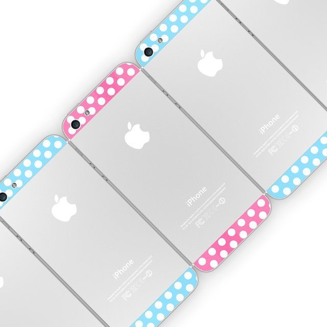 Polka Dot Top Bottom Glass Back Housing Cover For iPhone