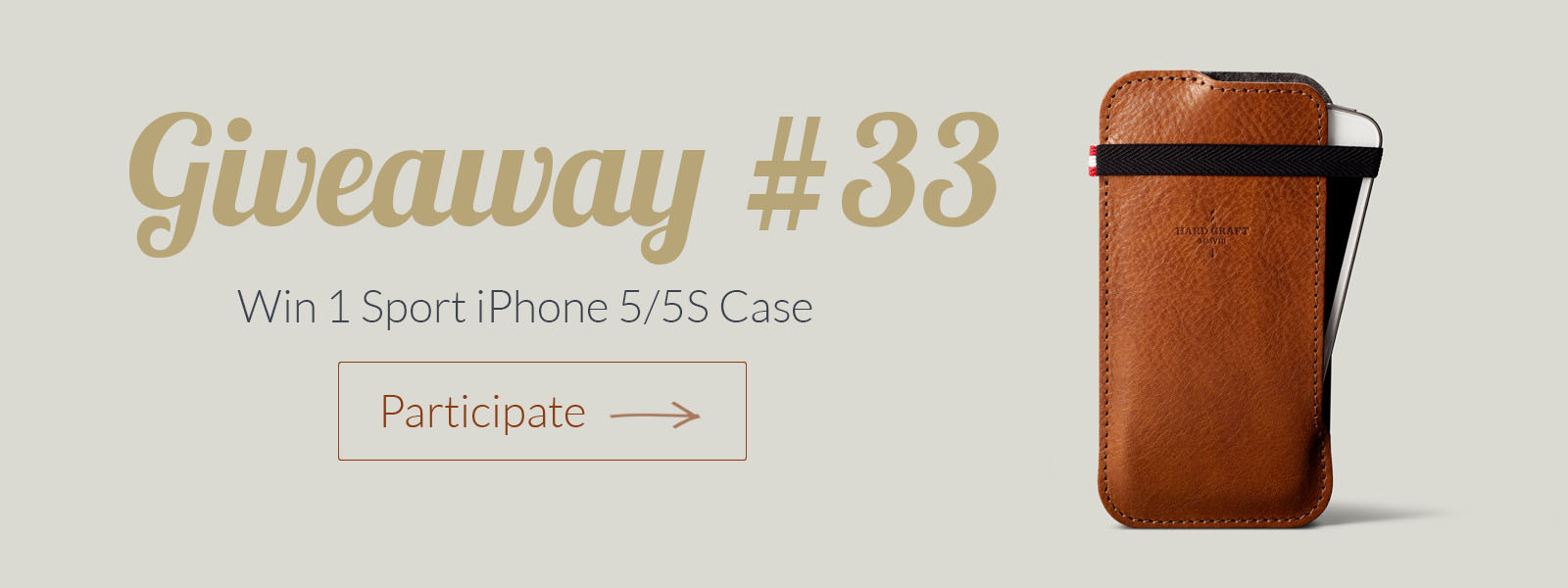Giveaway of the Week #33 – Win 1 Sport iPhone 5/5S Case By Hard Graft