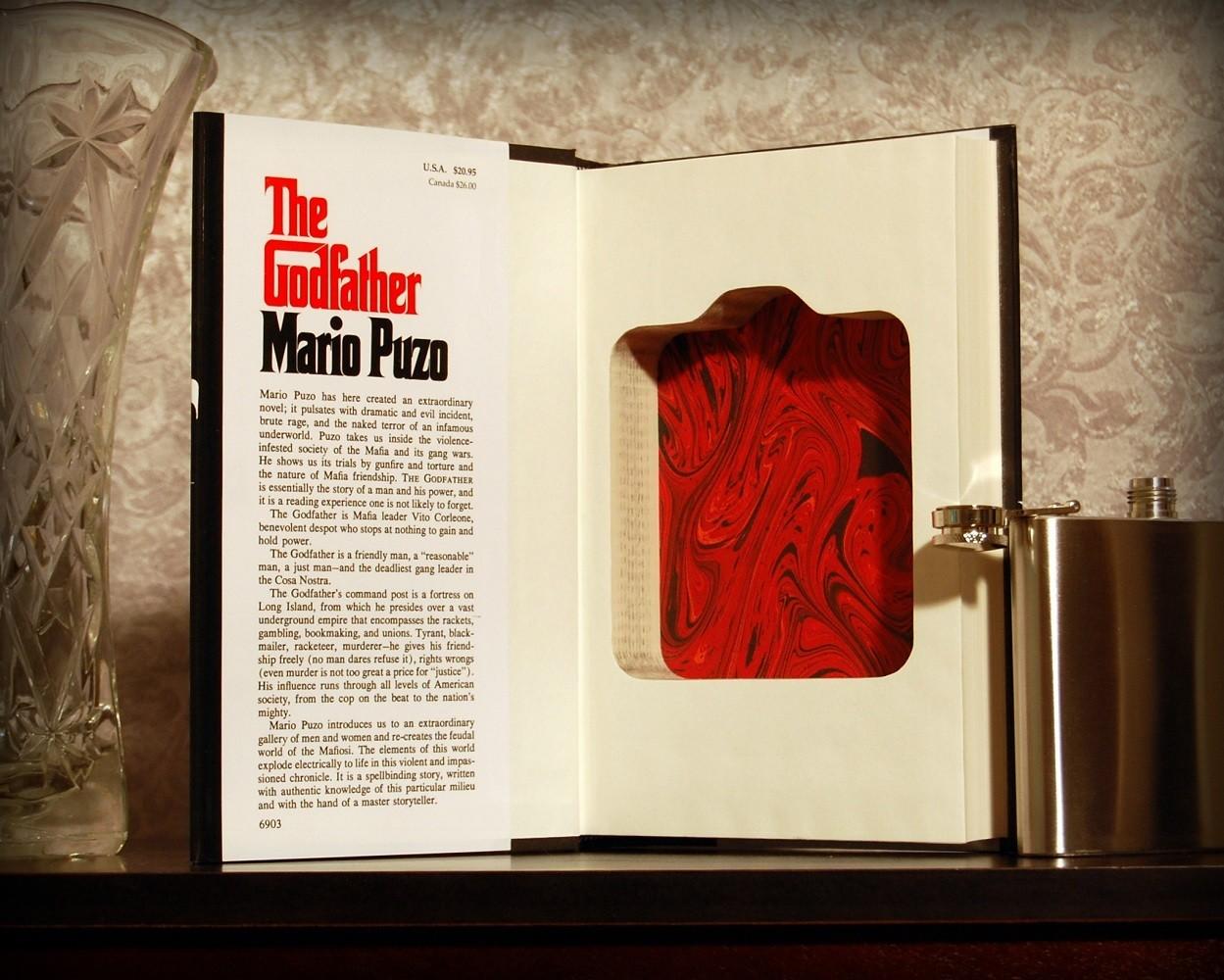 The Godfather Secret Safe Flask Book