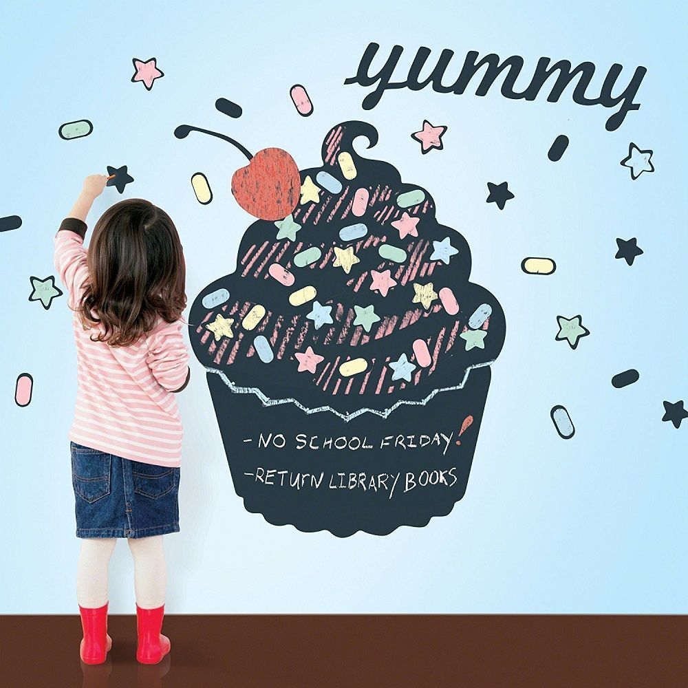 Wallcandy Arts Black Cupcake Chalkboard Kit