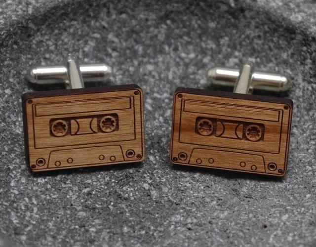 Wooden+Cassette+Cufflinks