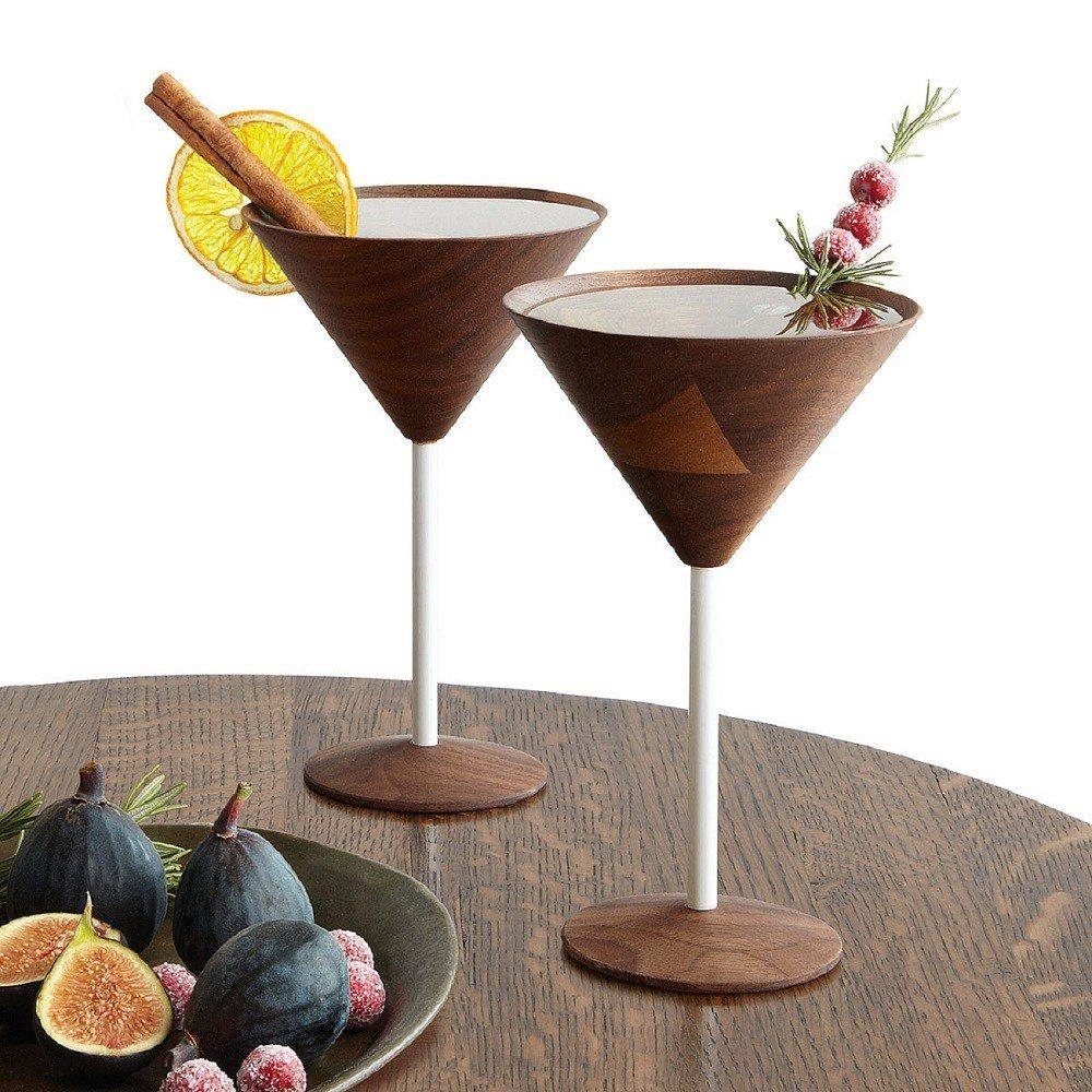 Wooden Martini Glasses