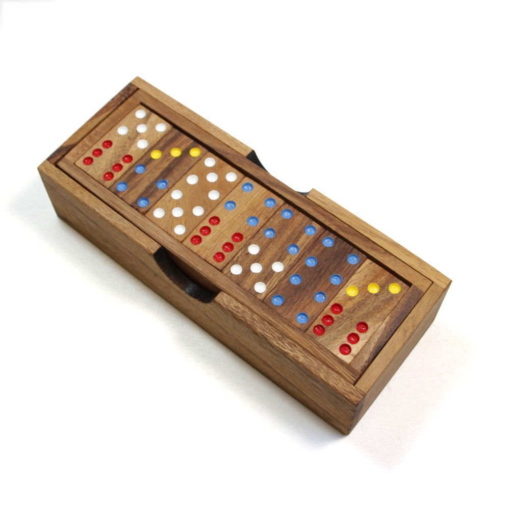Classic Wooden Dominoes Set