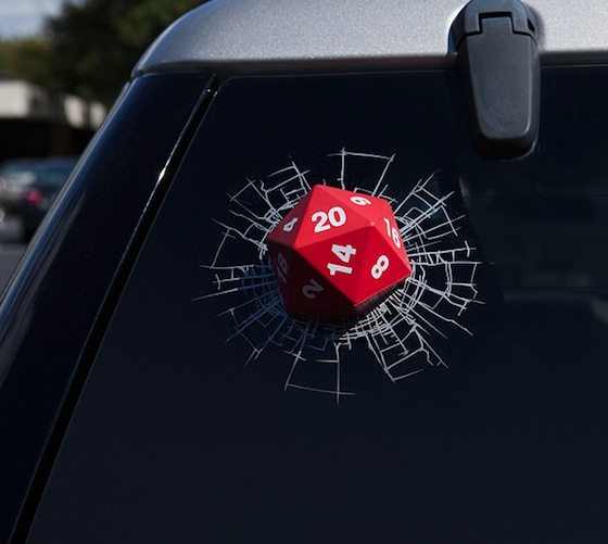 D20 3D Window Decal