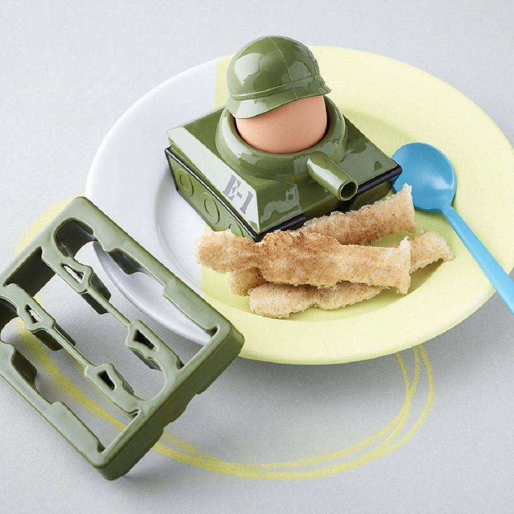 Eggsplode Egg Cup and Soldier Cutter