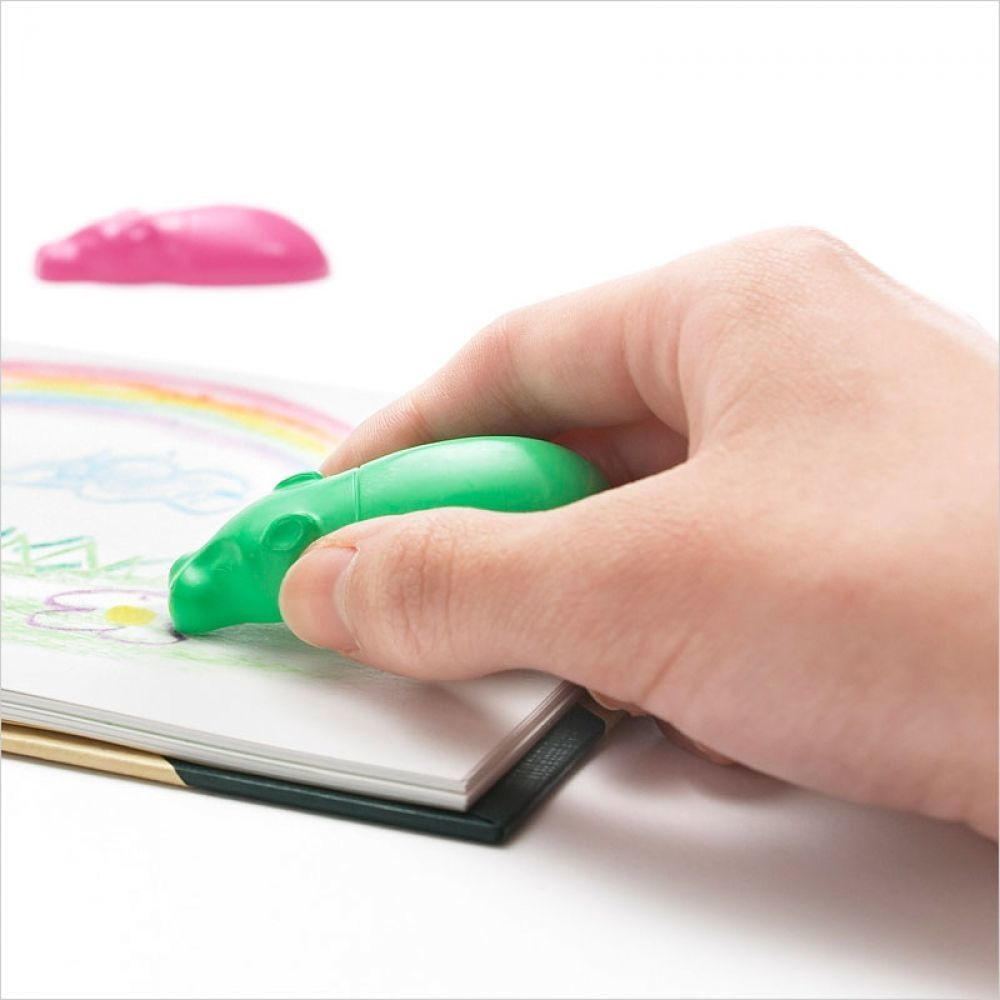 Hippo-Shaped Kaba Crayons