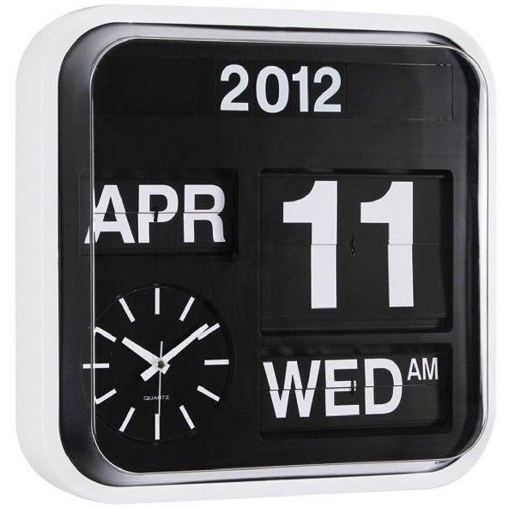 karlsson calendar clock big flip gadget flow. Black Bedroom Furniture Sets. Home Design Ideas