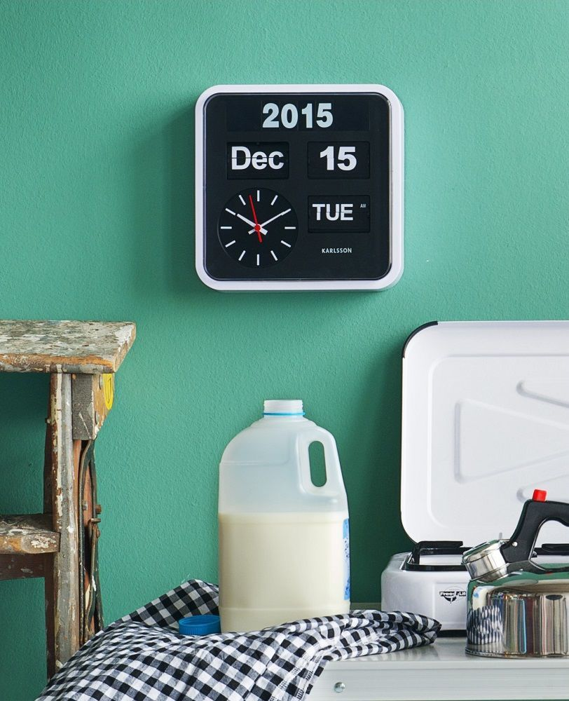 Karlsson Calendar Clock Big Flip