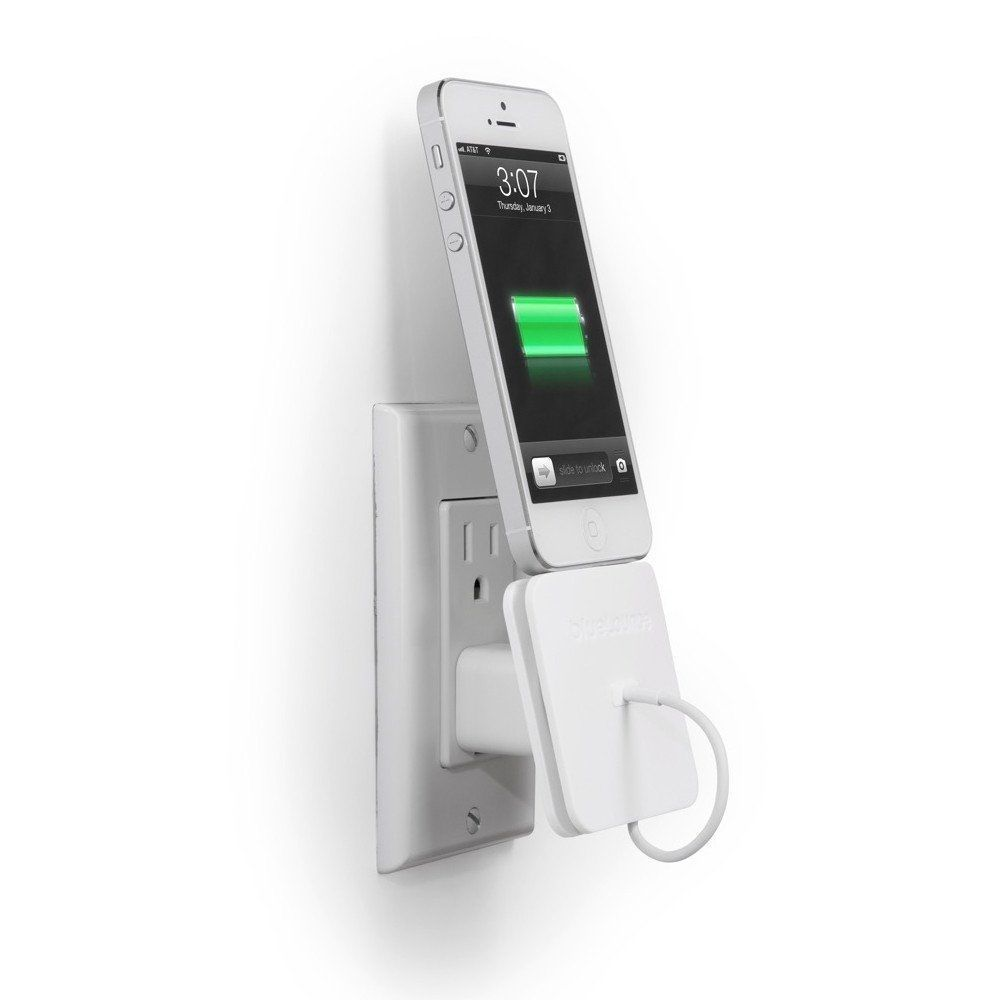 iphone wall charger rolio iphone charger with wall dock by bluelounge 5379