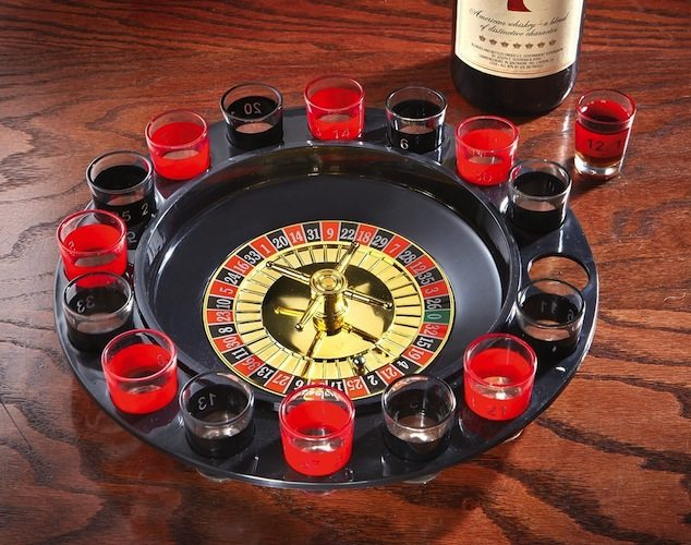 Maxam Shot Glass Roulette Drinking Game Set