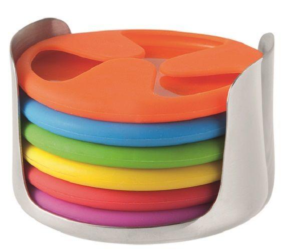 Silicone Grip Coaster Set