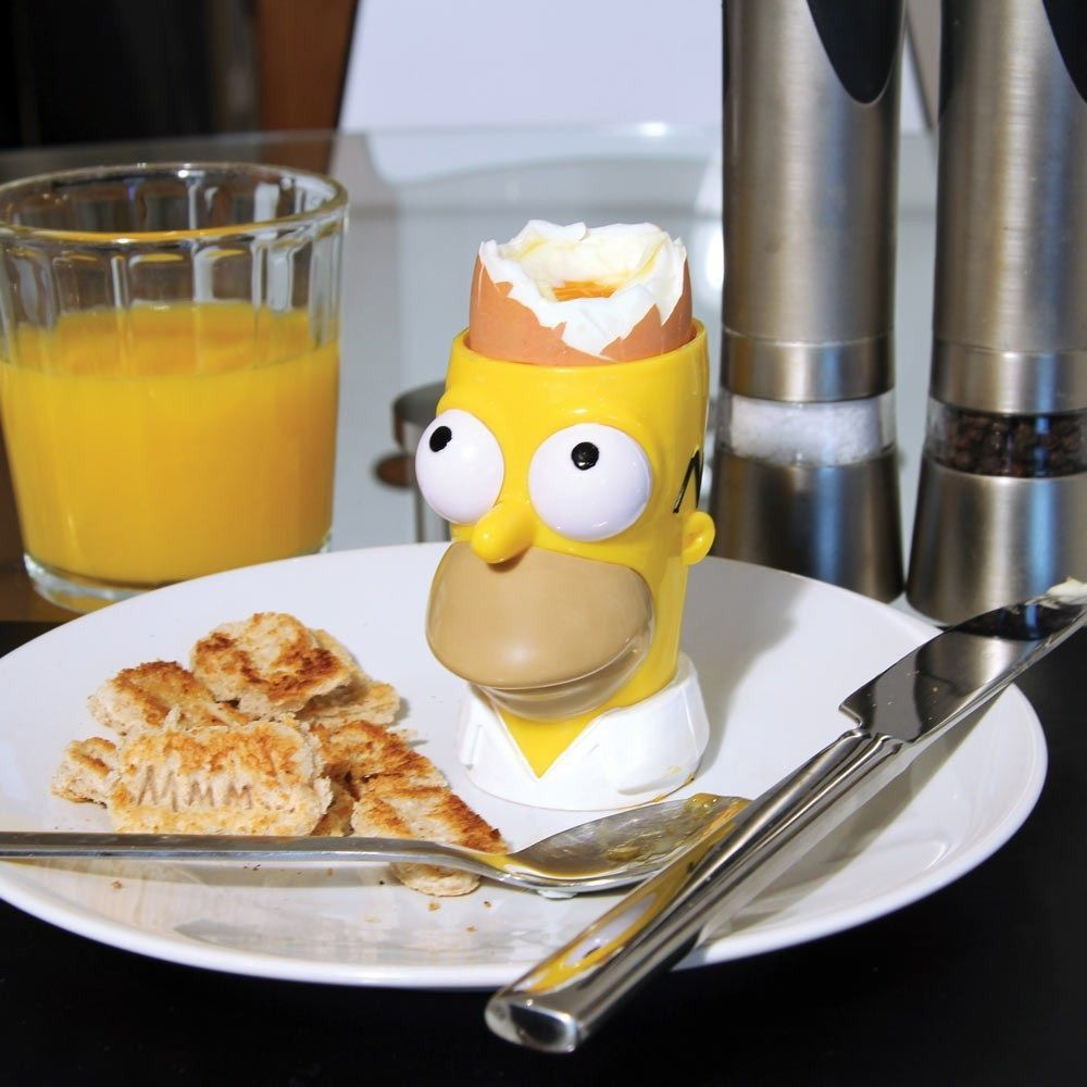 Simpsons Homer Egg Cup and Toast Cutter Set