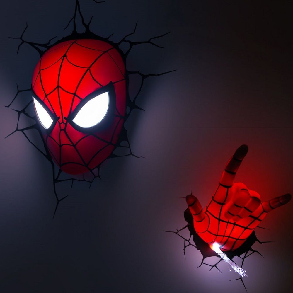 Spider-Man Mask LED Light