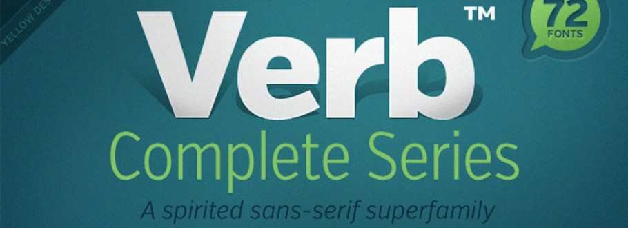 Exclusive Deal — Verb 72-Font Super Family Only $37