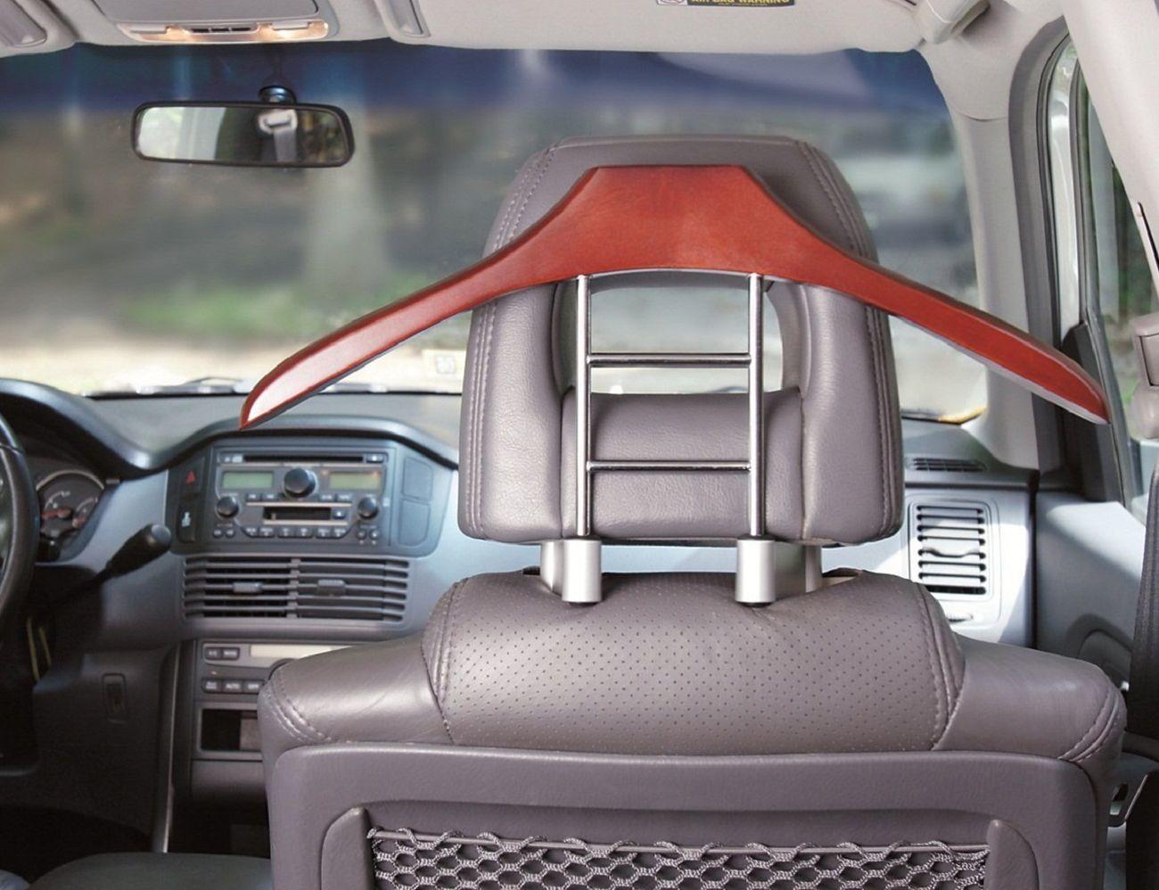 Car Butler Wood Hanger From Maxsa