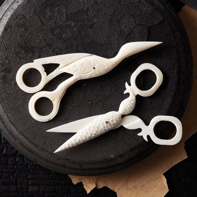 Handcrafted Walden Pond Bone Scissors