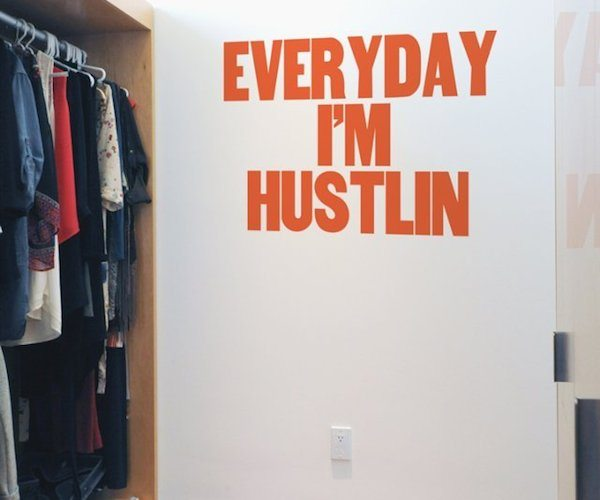 Hustlin' For Paper Jam Press and Blik Wall Decals