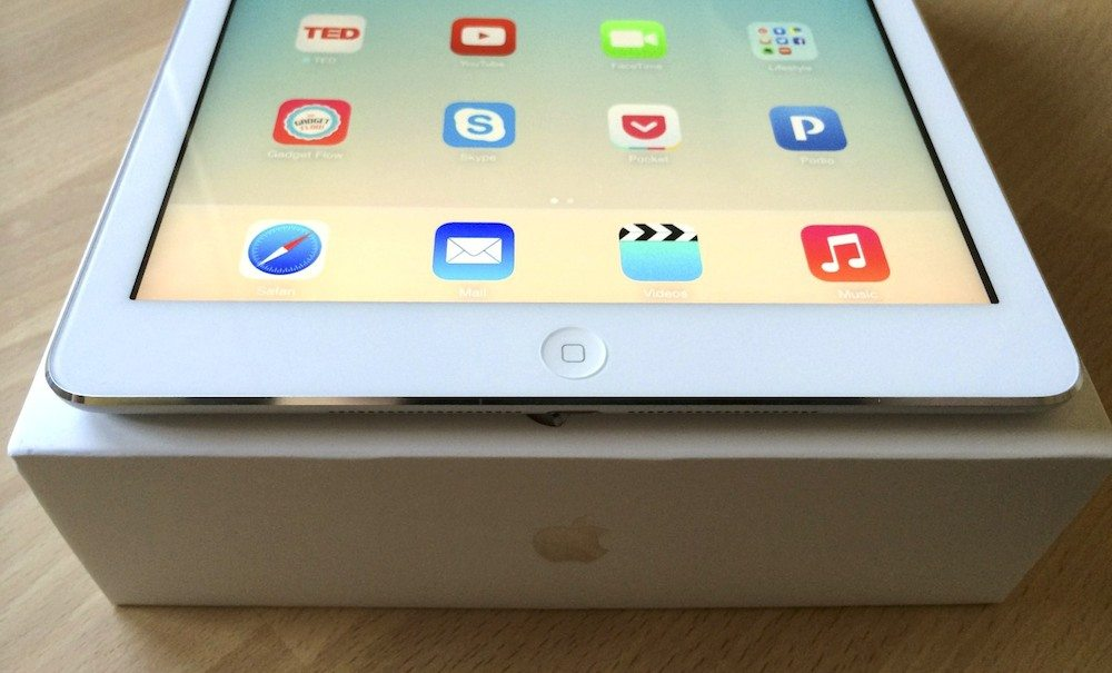 ipad air front the gadget flow
