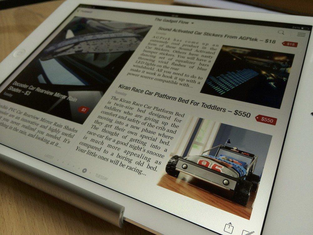 ipad app flipboard and the gadget flow screen