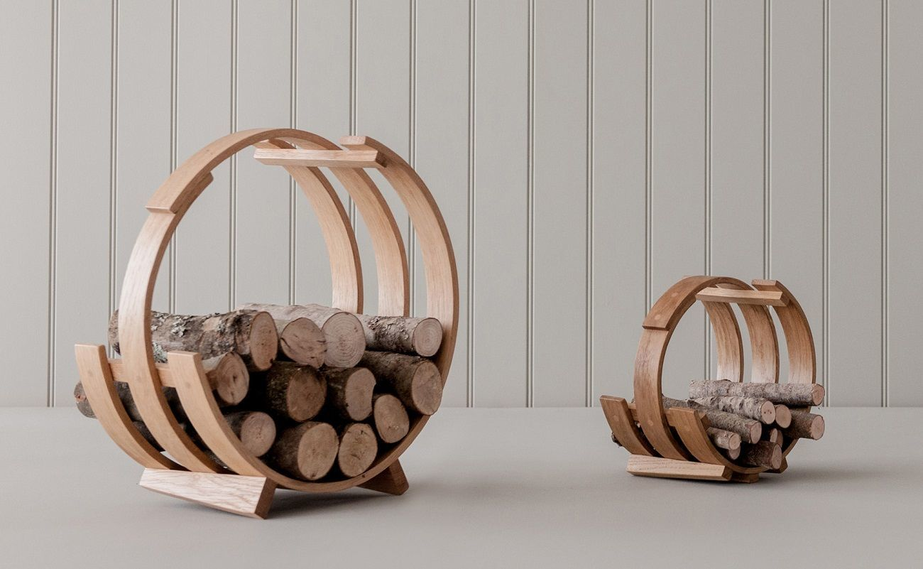 Log Loop Wood Basket