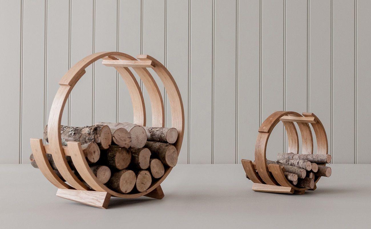 Log Loop Wood Basket