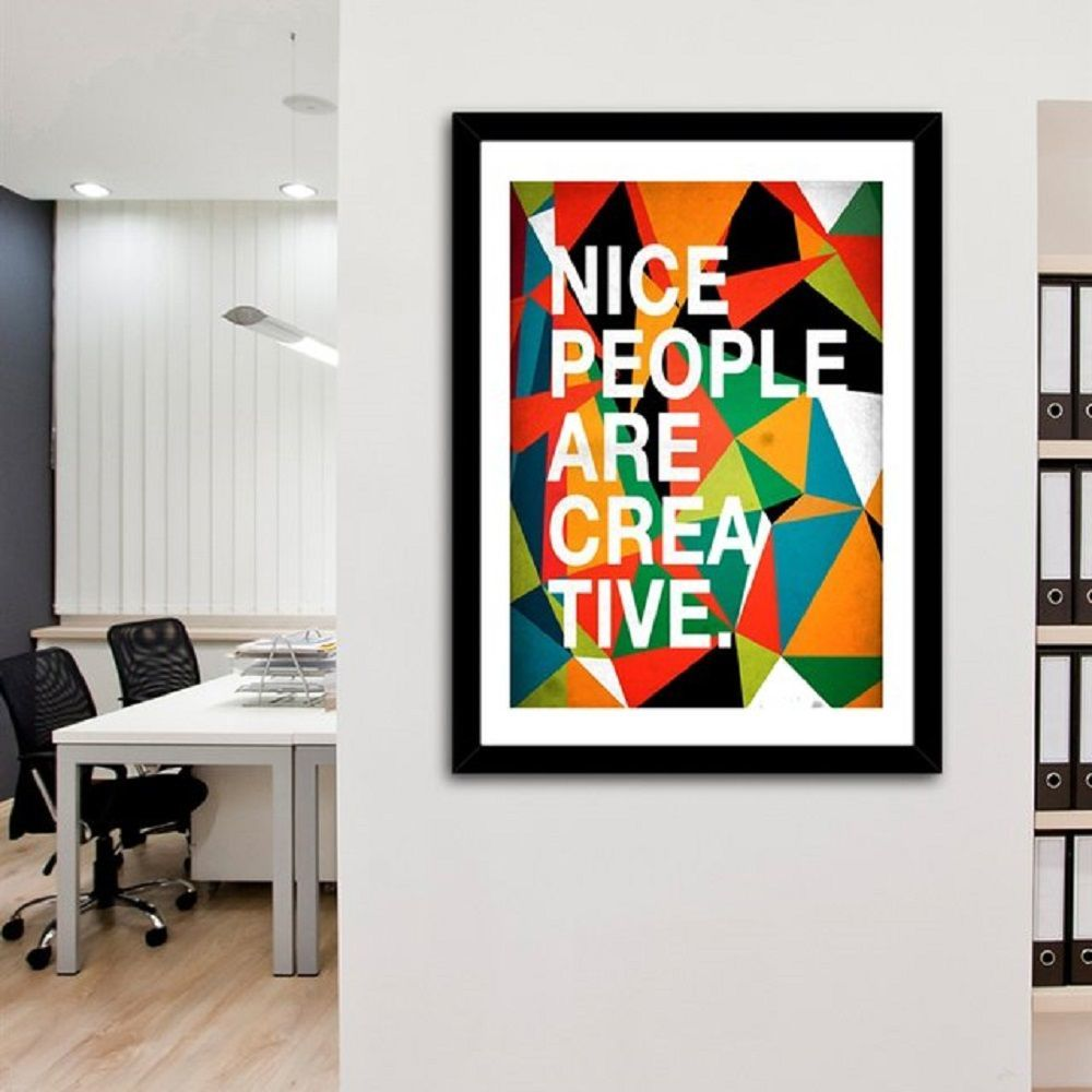 Nice People Are Creative Print by Danny Ivan