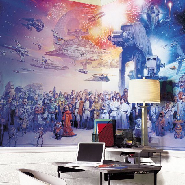 Star+Wars+Ensemble+Wall+Mural
