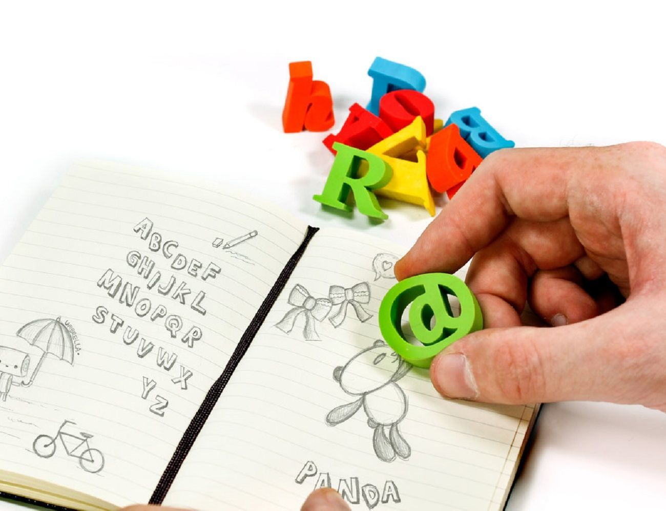 Alphabet Erasers Set