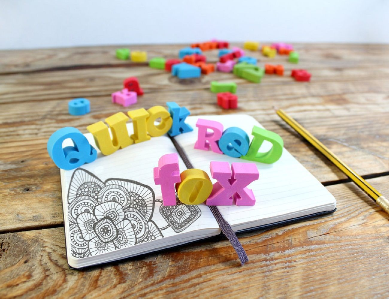 Alphabet Erasers Set
