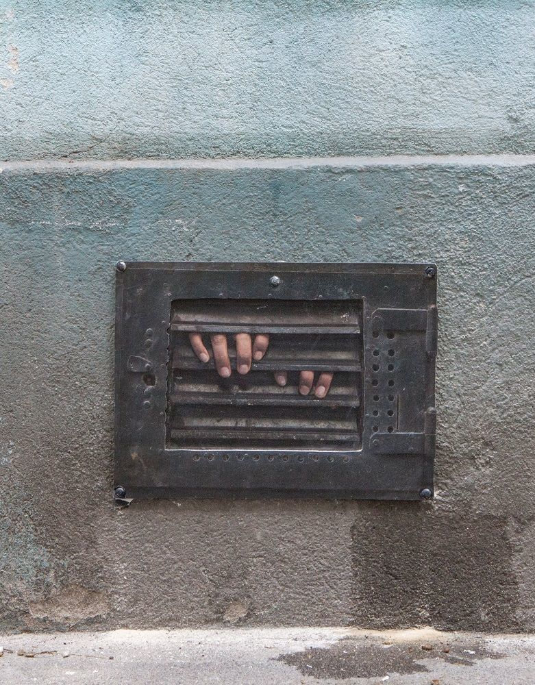 Amadou Two Hands Blik Wall Decal From Dan Witz