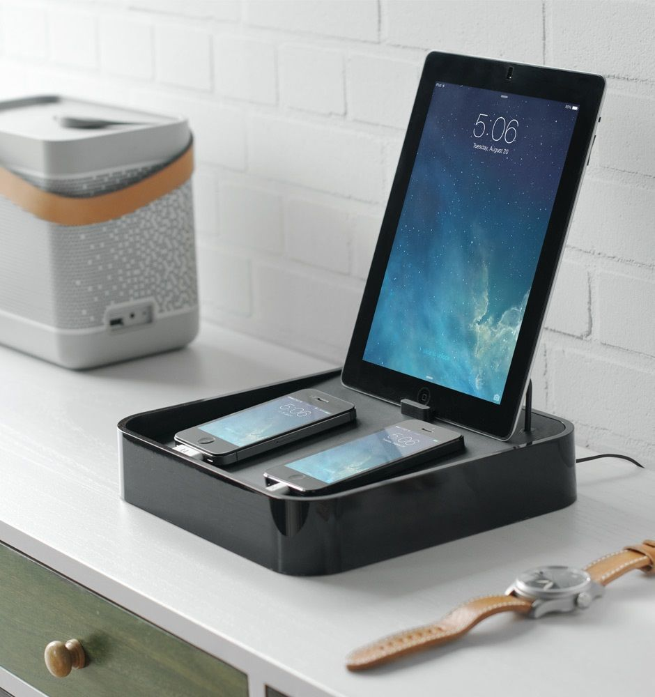 Bluelounge Sanctuary4 Charging Station for Smartphones and Tablets