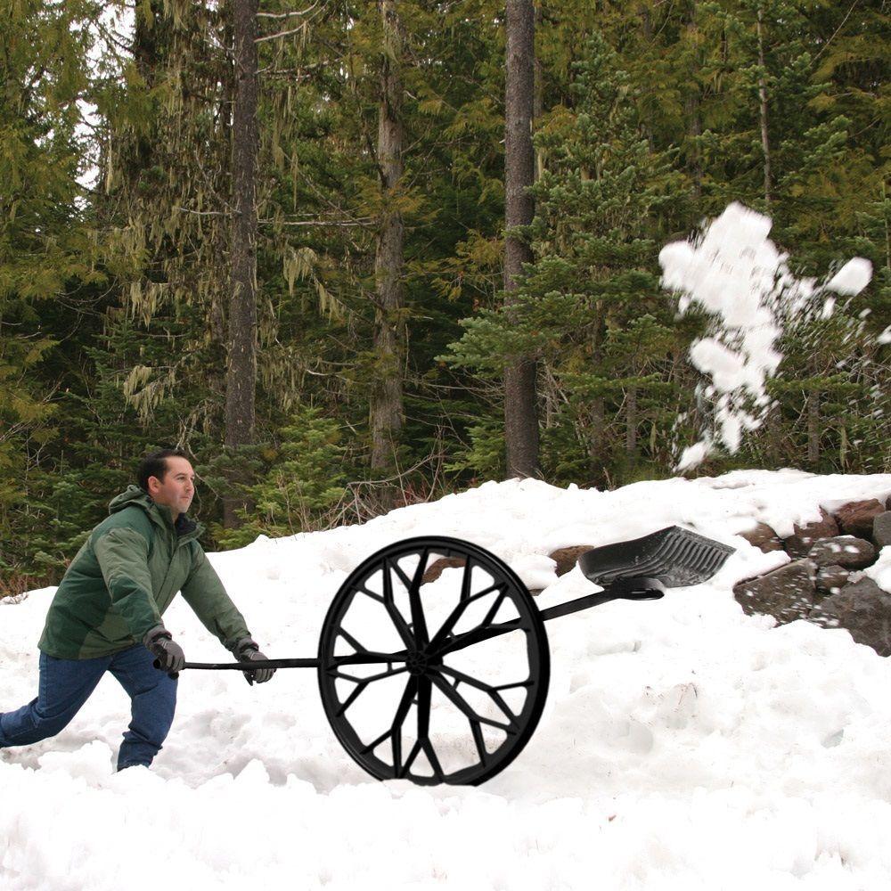 Folding Frame Snow Wolf Wheeled Snow Shovel