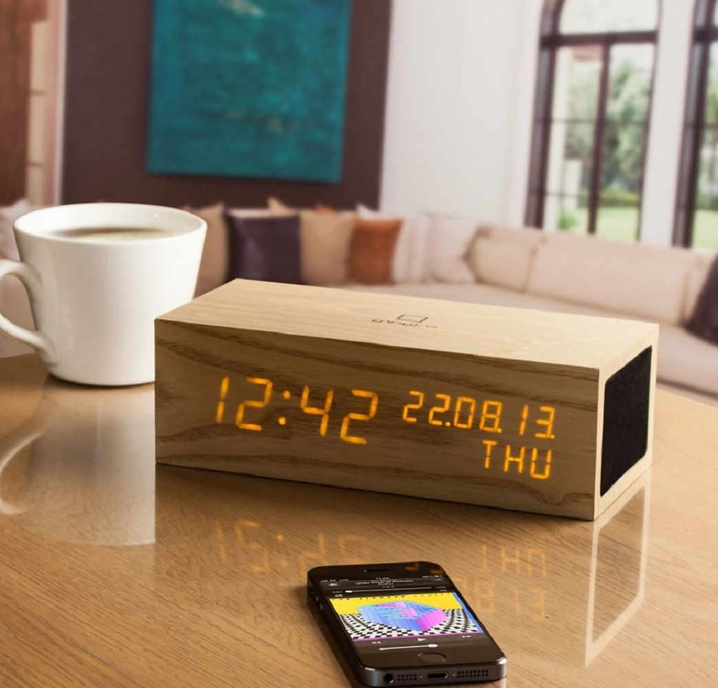 Gingko LED Music Click Clock