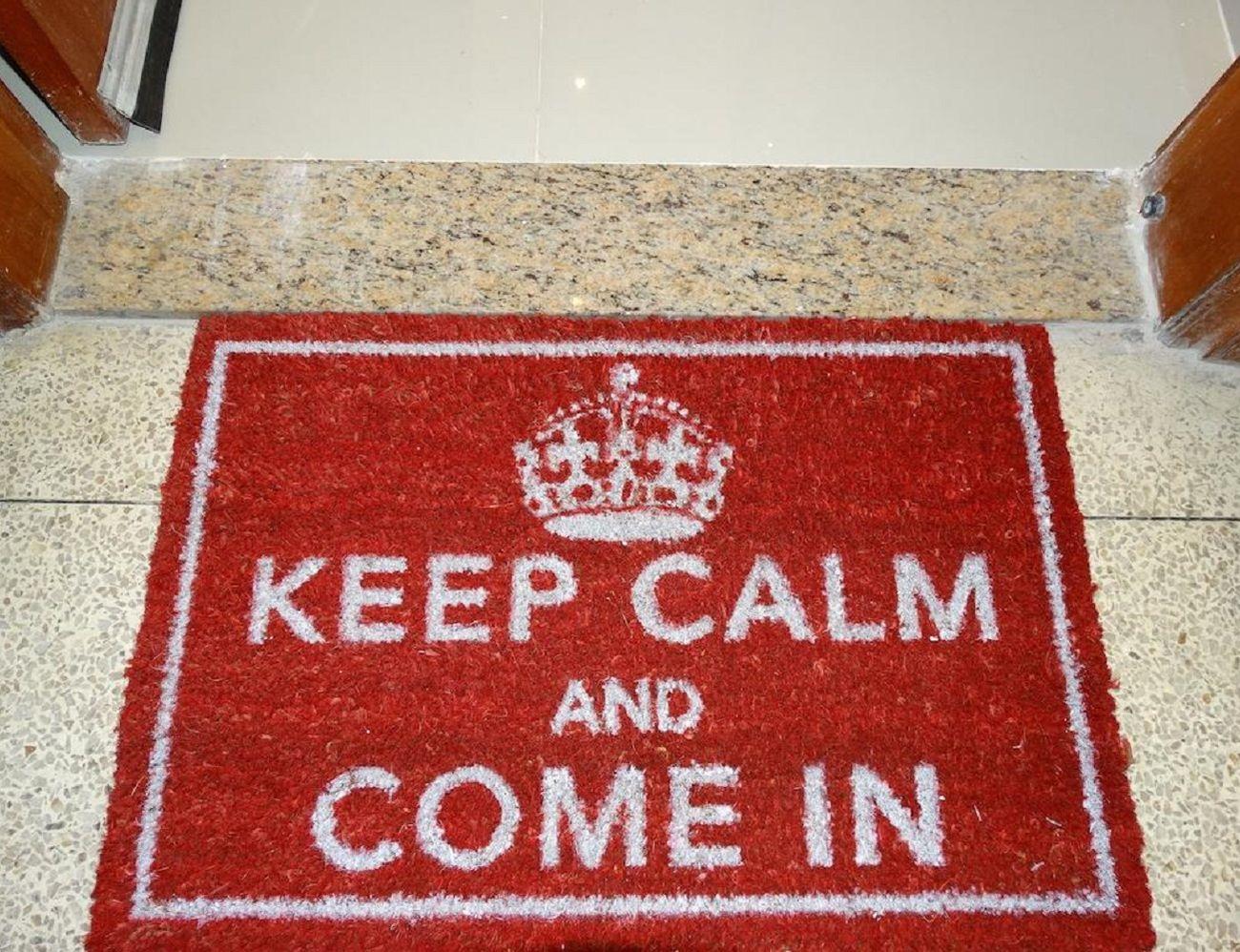 Keep Calm and Come In Door Mat