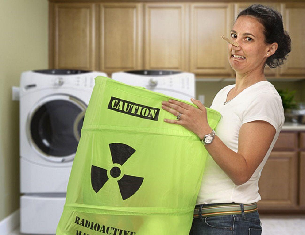 Mustard Toxic Laundry Basket