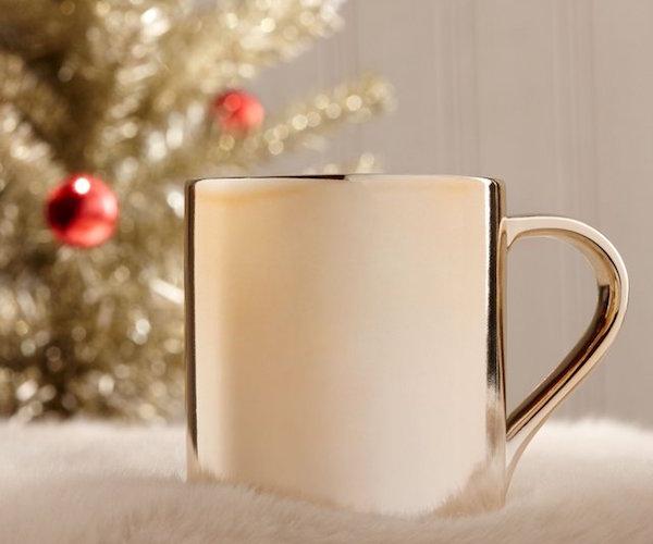 Starbucks Ceramic Gradient Rose Gold and Silver Mug
