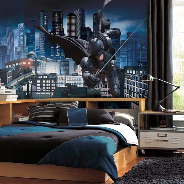 the dark knight rises prepasted batman mural gadget flow