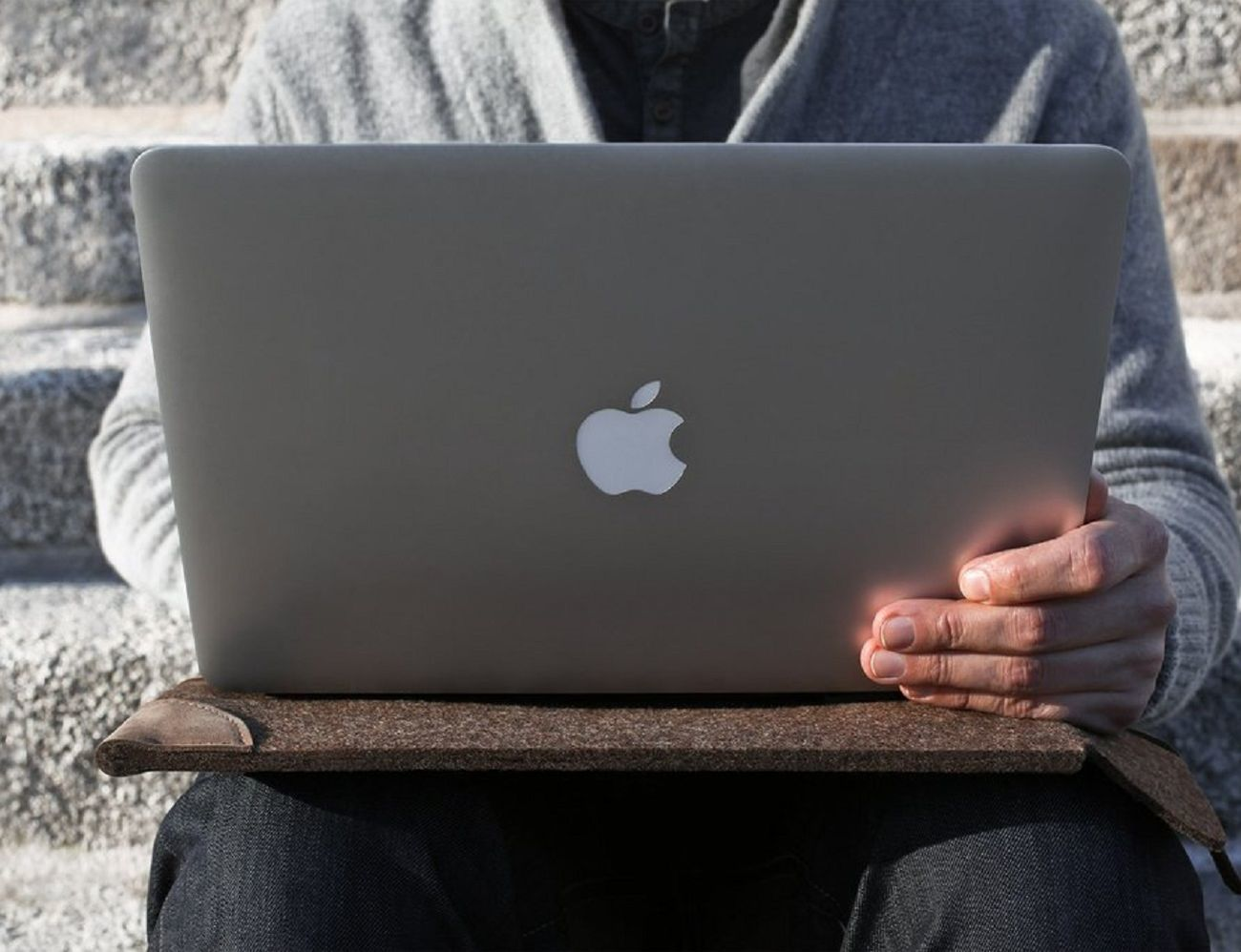 Wool and Leather MacBook Sleeve