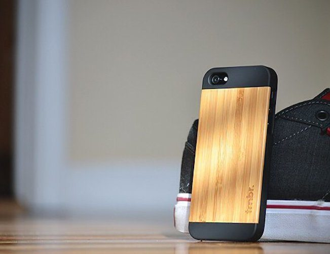 Bamboo+Wood+IPhone+SE%2F5s+Fifty-Fifty+Case