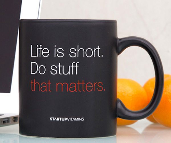 Ceramic Coffee Mug With Inspirational Quote