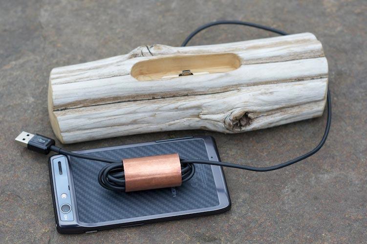 Driftwood Docking Station for Smartphones